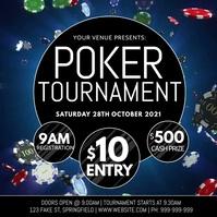 Poker Tournament Video Poster template