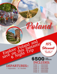 Poland Travel Flyer Template