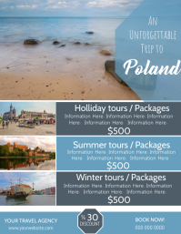 Poland Travel Poster Flyer Template