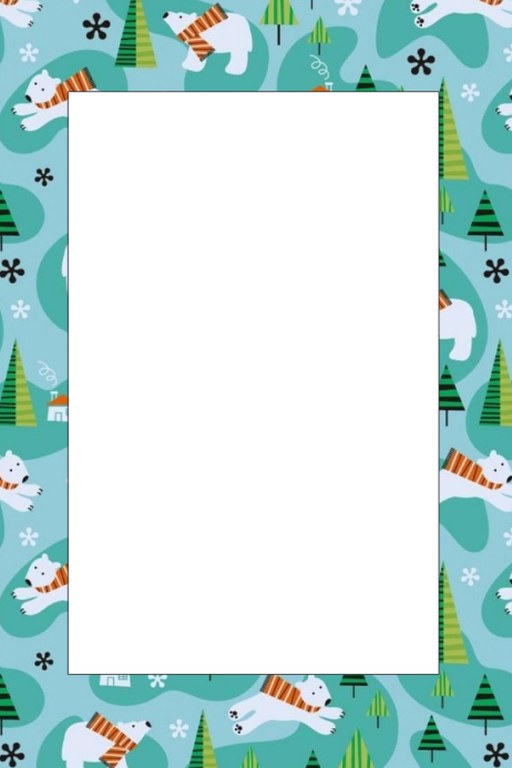 Polar Bear Party Prop Frame Template | PosterMyWall