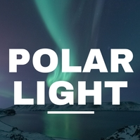 polar light Aurora northern light 专辑封面 template