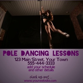 Pole Dancing Lessons Instagram Post template