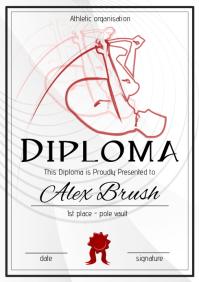 pole vault diploma