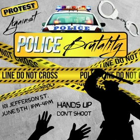 POLICE BRUTALITY PROTEST FLYER TEMPLATE