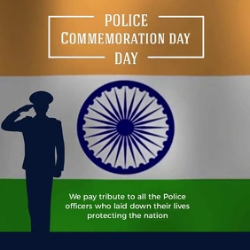 POLICE COMMEMORATION SOCIAL MEDIA TEMPLATE