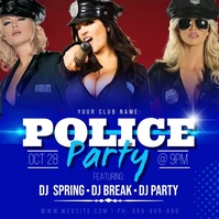 Police Party Poster template