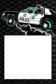 Police Party Prop Frame