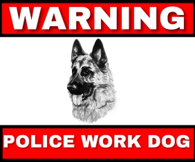 POLICE WORK DOG TEMPLATE Rectangle moyen