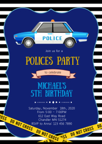 Polices birthday party invitation