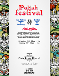 Polish American Event Festival Flyer Template