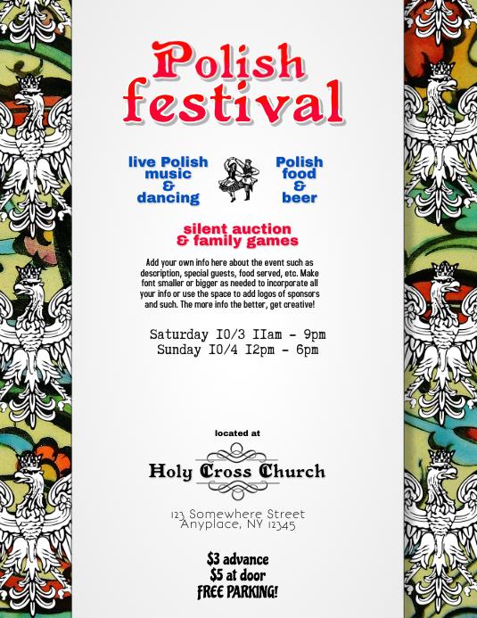 Polish American Event Festival Flyer Template