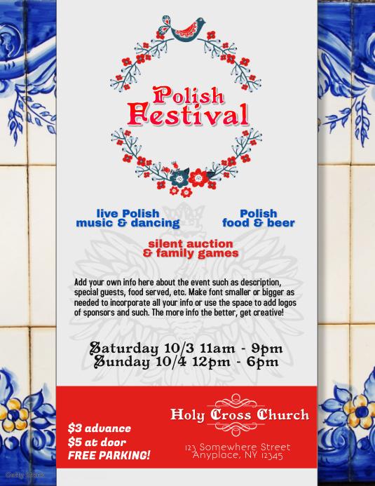 Polish American Festival Flyer Template