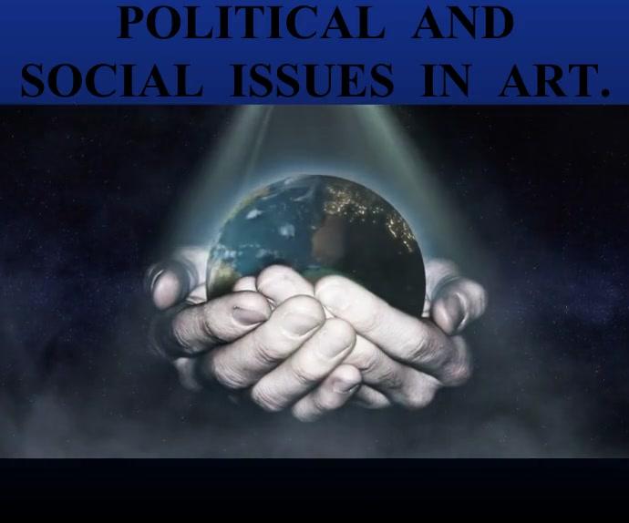 POLITICAL AND ART BOARD SIGN TEMPLATE Persegi Panjang Besar