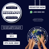 Political Geography course for competitive ex Instagram-Beitrag template