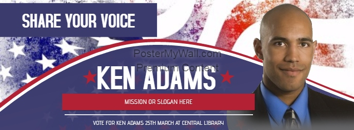 Political Voting Campaign Facebook Cover Photo Template PosterMyWall - Facebook ad template library