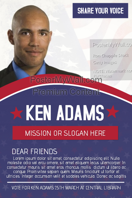 Political Voting Campaign Flyer Template PosterMyWall - Political campaign brochure template
