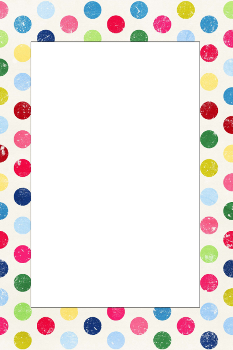 Polka Dot Party Prop Frame Template | PosterMyWall