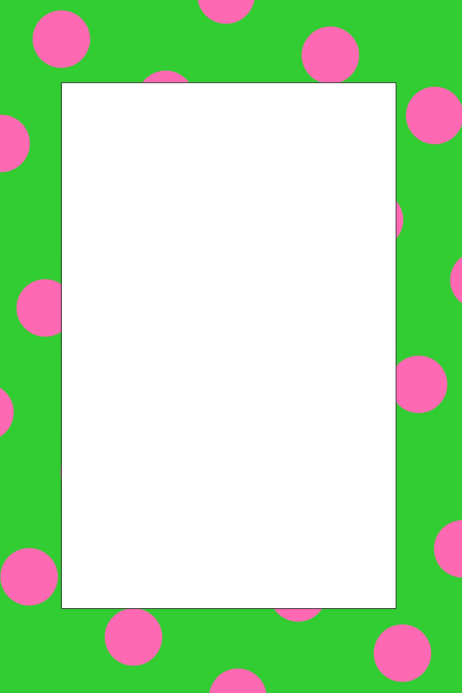 Polka Dot Party Prop Frame