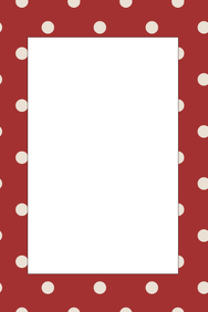 Polka Dot Party Prop Frame