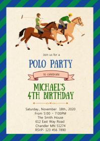 Polo birthday party invitation