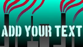 Polution customizable blog header image templ