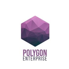 Polygon hexagon shape logo design template