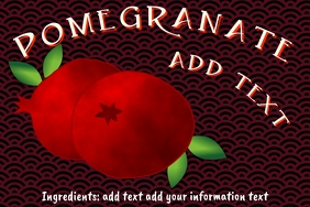 pomegranate - Label template