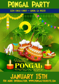 Pongal Party A3 template