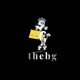 Poodle advertisement design Logo template