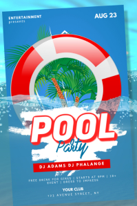 Pool Beach Party Flyer Template