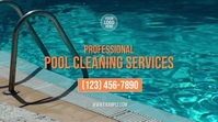 Pool Cleaning Services Digitalt display (16:9) template