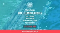 Pool Cleaning Services Digitalanzeige (16:9) template