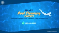Pool Cleaning Services Video Ad Digitale Vertoning (16:9) template