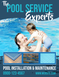 Pool Experts Maintenance and Service Flyer Volante (Carta US) template