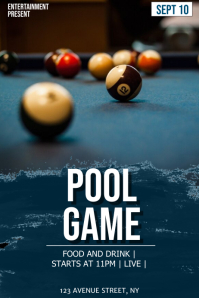 Pool game flyer template
