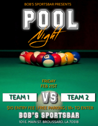 POOL GAME NIGHT FLYER TEMPLATE
