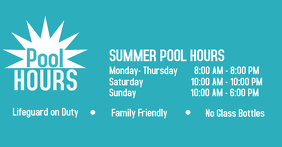 Pool Hours Immagine condivisa di Facebook template
