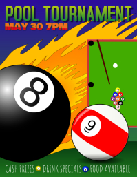 pool league tournament flyer