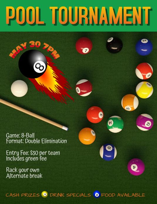 pool league tournament flyer