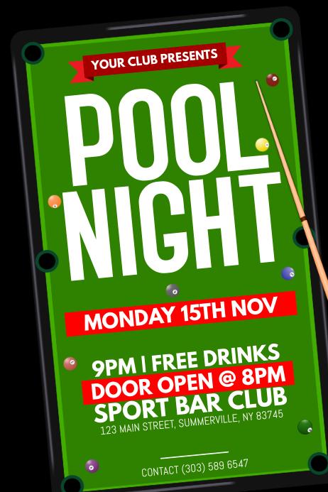 Pool Night Poster