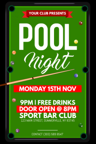 Pool Night Poster