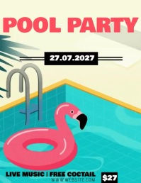 POOL PARTY AD Flyer Template