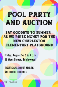 POOL PARTY AND AUCTION FLYER