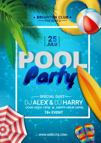 Pool Party A3 template