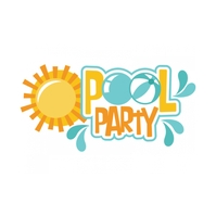 Pool Party Logo template