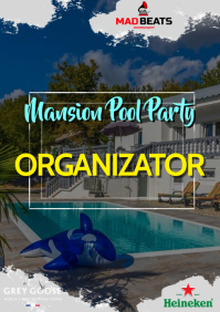 Pool party A4 template
