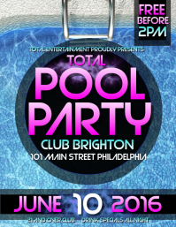 Pool Party. POOL PARTY FLYER