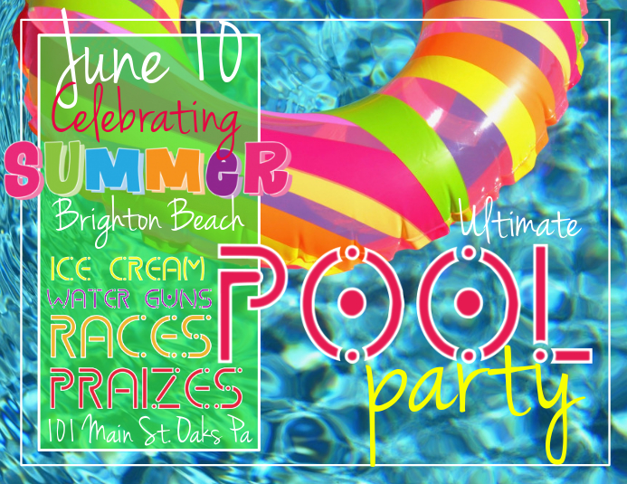 Customizable Design Templates For Pool Party | Postermywall