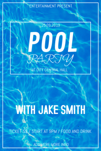 Pool party flyer template