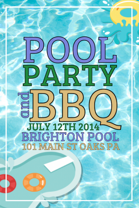 Pool Party Template Postermywall